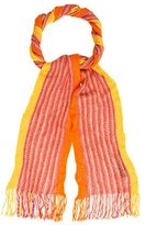 Missoni Open Knit Fringe Scarf