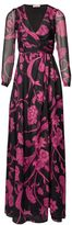 Matthew Williamson Black Himitsu Garden Silk Wrap Gown