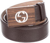 Gucci Leather GG Buckle Belt