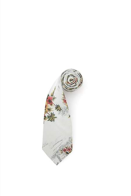 Country Road Tropical Floral Tie