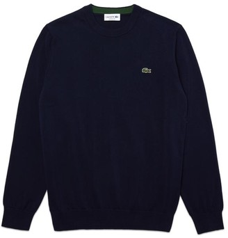 Lacoste Cotton Crew Knit Ah 1985 Navy - 3/Small