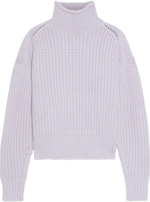 Autumn Cashmere Cropped Ribbed-knit Turtleneck Sweater
