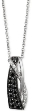 """LeVian Le Vian Exotics Diamond Abstract 18"""" Pendant Necklace (1/3 ct. t.w.) in 14k White Gold"""