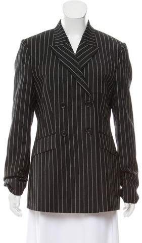 Givenchy Striped Double-Breasted Blazer