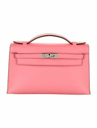 Hermes 2020 Swift Kelly Pochette w/ Tags Rose