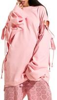 Puma Women's Fenty By Rihanna Oversize Convertible Sleeve Sweatshirt