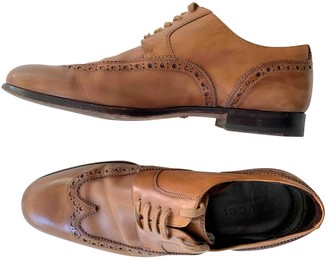Gucci Camel Leather Lace ups