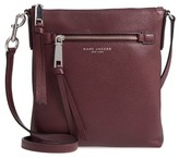 Marc Jacobs Recruit North/south Leather Crossbody Bag - Purple