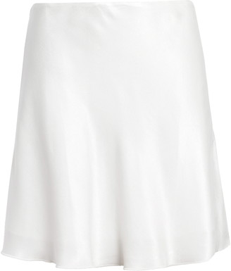 Socialite Bias Cut Satin Miniskirt