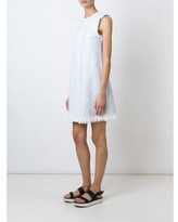 Alexander Wang frayed woven dress