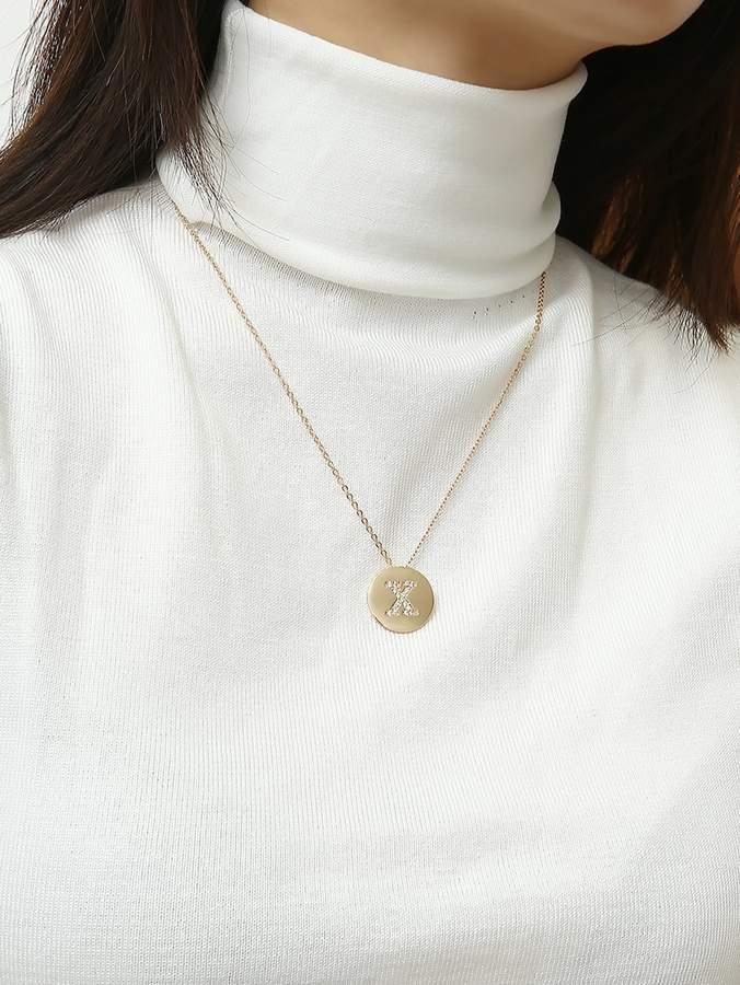 d1ef79f919 Gold Disc Letter Necklace - ShopStyle