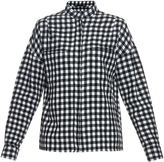 Haider Ackermann Plaid wool and linen-blend shirt