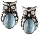 lonna & lilly Silver Plated Owl Stud Earrings