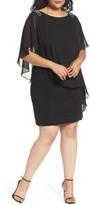 Xscape Evenings Plus Size Women's Embellished Chiffon Overlay Jersey Dress