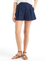 Gap Pleated indigo shorts