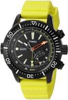 Timex Men's T2N958 Intelligent Quartz Adventure Series Depth Gauge Yellow Resin Strap Watch