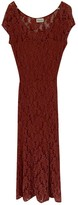 Ganni Red Lace Dress for Women