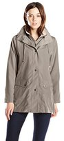 Big Chill Women's Lightweight Faux Silk Rain Coat