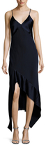 Narciso Rodriguez Silk Bias Cut Asymmetrical Dress