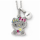 Hello Kitty Sterling Silver Crystal/Gold-tone/Enamel Virgo Necklace
