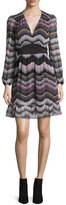 Diane von Furstenberg Lizbeth Printed Silk Dress, Encore Wild Rose/Black