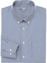 Uniqlo Men Extra Fine Cotton Broadcloth Striped Long Sleeve Shirt
