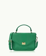 GiGi New York Courtney Satchel Embossed Python