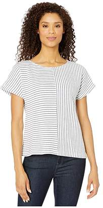 Mod-o-doc Mod O Doc Nautical Stripe Terry Dolman Sleeve Top (Navy) Women's Clothing