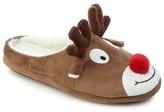 Mantaray Brown Reindeer Slippers
