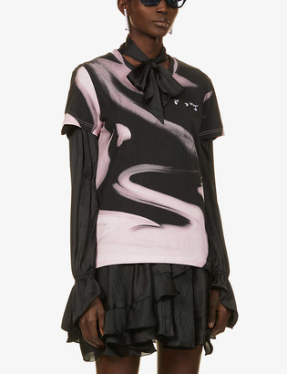 Off-White Liquid Melt cotton-jersey T-shirt