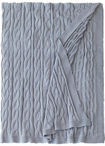 Eastern Accents Avalon Cable-Knit Cotton Throw - Slate - EASTERN ACCENTS