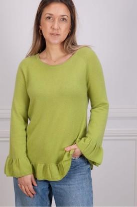 Riani Scoop Neck Sweater In Cezanne Green - 10