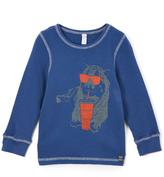 Nano Denim & Orange Cool Tiger Thermal Tee - Infant Toddler & Boys