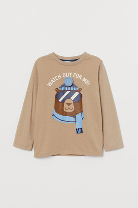 H&M Jersey Shirt with Motif