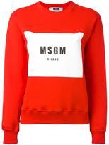 MSGM logo print sweatshirt - women - Cotton - L