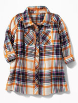 Old Navy Plaid Flannel Shirt Dress for Baby