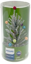 Philips Lit Silver Tinsel Tree