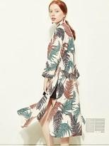 Blank Print Robe Jacket-pk