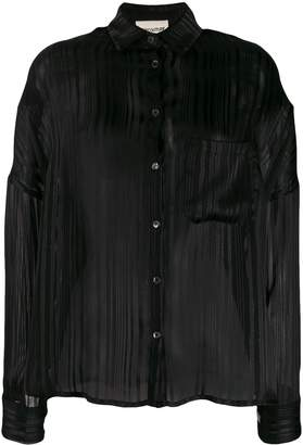 Semi-Couture Semicouture striped-devoré shirt