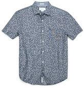 Original Penguin Ivy Leaf Chambray Short Sleeve Shirt