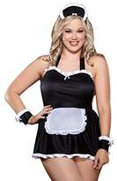 Dreamgirl Women's Plus-Size Maid Me Dirty Babydoll