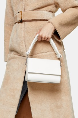 Topshop TRI White Quilted Handle Grab Bag