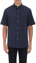 Rag & Bone MEN'S POPLIN SHORT-SLEEVE SHIRT-NAVY SIZE S