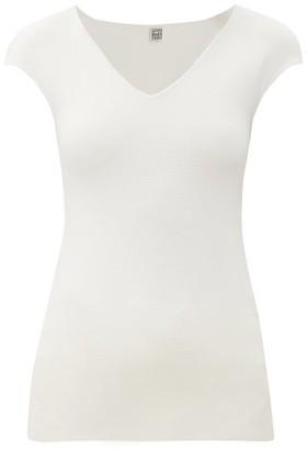 Totême Cap-sleeve Jersey Top - White
