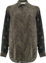 Faith Connexion print mix long sleeve shirt - women - Silk - M