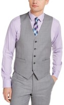 Michael Kors Men's Classic-Fit Airsoft Stretch Gray Sharkskin Suit Vest
