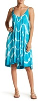Green Dragon Tie Dye Swing Dress