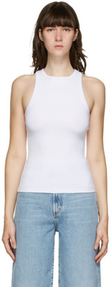 AGOLDE White High Neck Tank Top