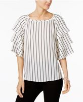 Charter Club Tiered-Sleeve Top, Only at Macy's