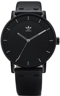 adidas Women's Analogue Quartz Watch with Leather Strap Z08-2345-00
